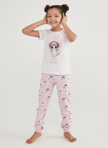 Penti Kız Çocuk Çok Renkli Listen 2'li Pijama Takım PNCYHNWU21IY Renkli